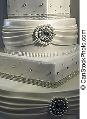 Wedding cake specially decorated.Detail 14 - Wedding cake...