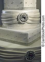 boda, pastel, specially, adornado, detalle, 14