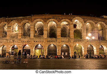Arena di Verona - People waiting outside the arena of Verona...