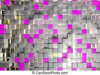 rosa, kub, bakgrund
