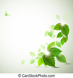 green leaves  - background with fresh green leaves