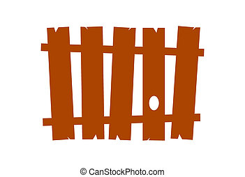 Fence - Vector Wooden fence Only one color, no gradients