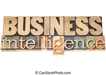 business intelligence in wood type