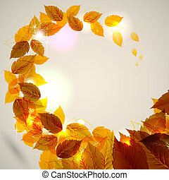 autumn leaves  - background with autumn leaves