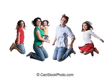 Jumping family - The jumping family Full isolted studio...