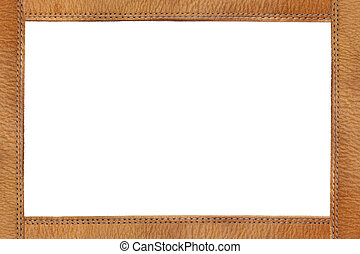 Leather frame with quilting