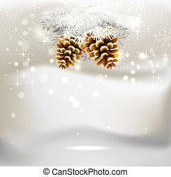 Christmas background - light Christmas background with two...