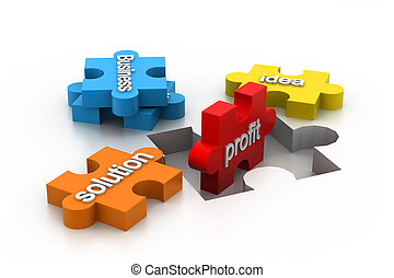 jigsaw puzzle showing business - jigsaw puzzle showing...