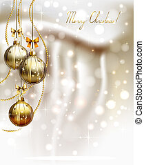 Christmas background - glimmered Christmas background with...