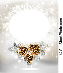 Christmas background - light Christmas background with three...
