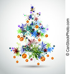 Christmas tree - Christmas background with abstract fir tree...