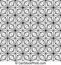 Seamless vector pattern - black lines on white background