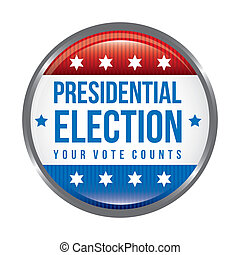 presidential election background, united states vector...