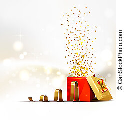 Christmas background - background with open bright Christmas...