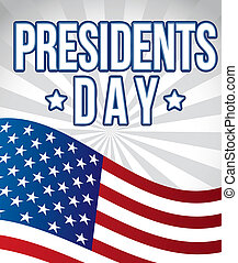 presidents day background, flag united states vector...
