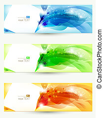 set of three banners, abstract headers