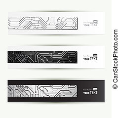 digital technologies - set of three Headers of the of...