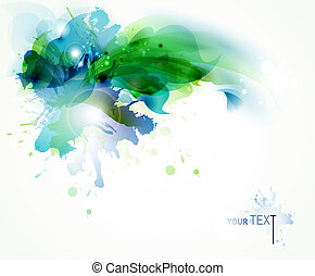 abstract background - Abstract background with blue and...
