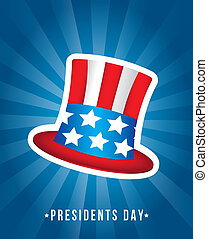 presidents day background, hat. vector illustration