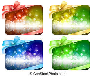 christmas greeting card - ribbon - Illustrazione adatta per...