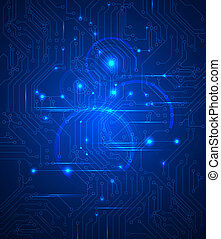 digital technologie - blue Abstract background of digital...