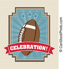 american football over vintage background. vector...
