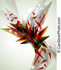 abstract expressive figure formed by triangles