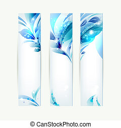 abstract headers - set of three banners, abstract headers