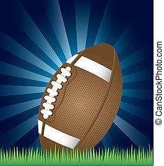 american football over night background vector illustration