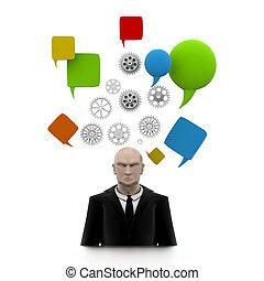 Business man Brain in Progress