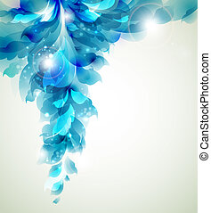abstract background - Abstract blue element for design