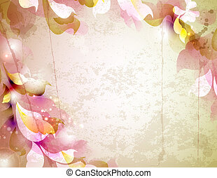 abstract background - Scrap background with abstract leaves
