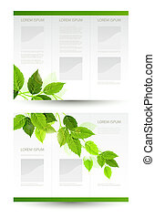 eco booklet - vector design of eco booklet with branch of...