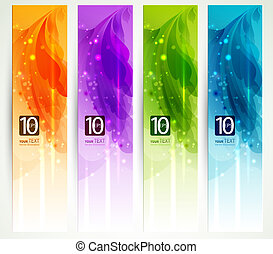 abstract headers - set of four banners, abstract headers