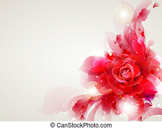 Abstract background - Abstract soft background with red rose...