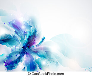 abstract Background - Background with blue abstract flower...