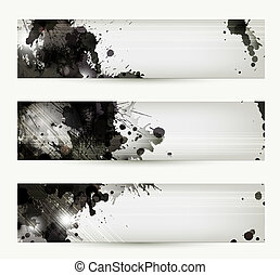 artistic headers - Abstract grunge artistic headers