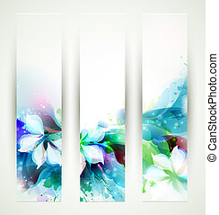 Abstract artistic Backgrounds - Set of three headers....