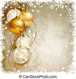 Christmas background - elegant Christmas background with...