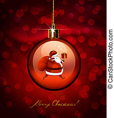 Christmas evening ball - red Christmas evening ball with...