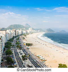Copacabana Beach - Brazil, Rio de Janeiro. The famous beach...