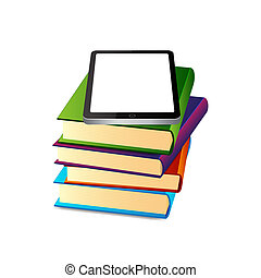 Books ans tablet pc