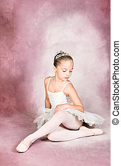 Young Dancer - Young dancer wearing a tutu and tiara