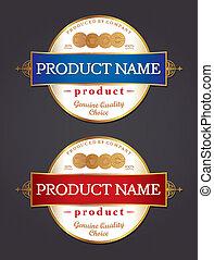 Label Design Vector Template Retro Style