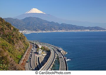 Mt. Fuji and Expressway - Mt. Fuji and Tomei Expressway,...