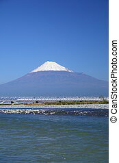 Mt Fuji and Shinkansen - View of Mt Fuji and Tokaido...