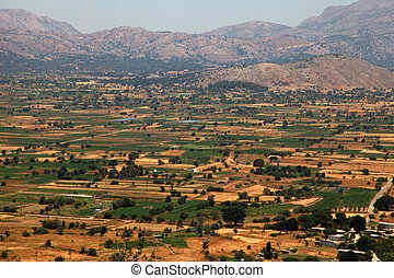 fields of Lassithi Plateau(Crete, Greece)