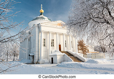 Temple in Yaroslavl Russia - The temple in the historic...