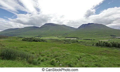 The Grey Corries Range and Ben Nevis, Scotland - panoramic...
