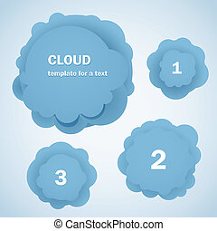 Abstract blue clouds Template for a text - Template for a...